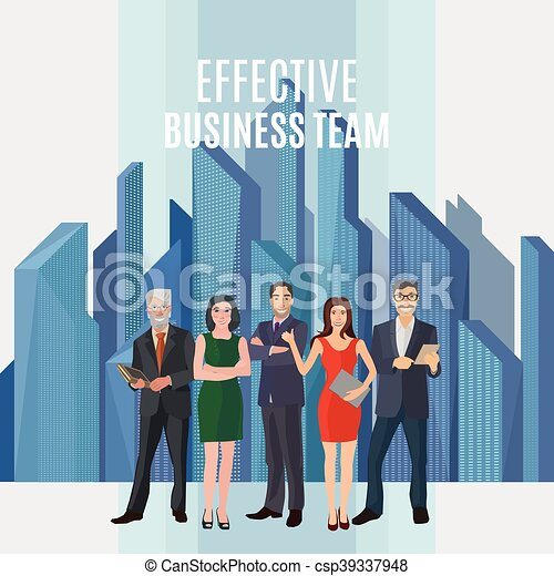 efficace, equipe affaires - csp39337948