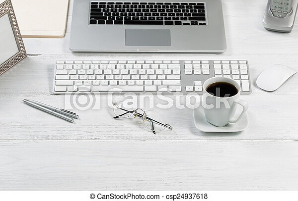 eficiência, configurar, trabalho, organizado, desktop - csp24937618