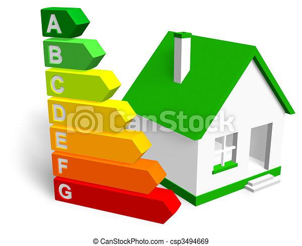 Concepto de eficiencia energética - csp3494669