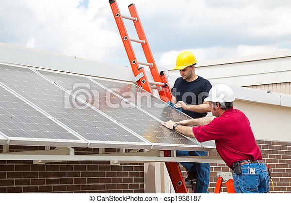 eficiente, energia, painéis, solar - csp1938187