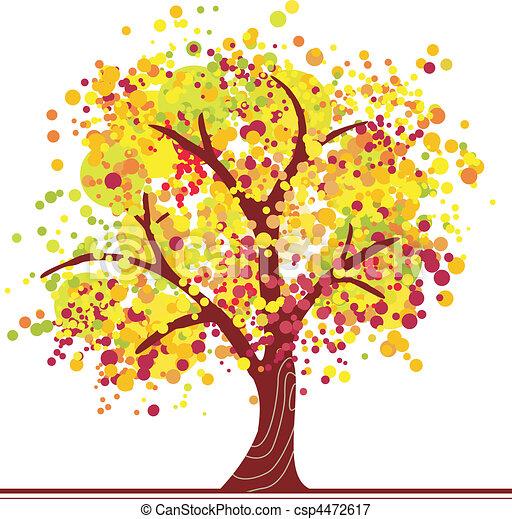 efterår, træ, farverig - csp4472617