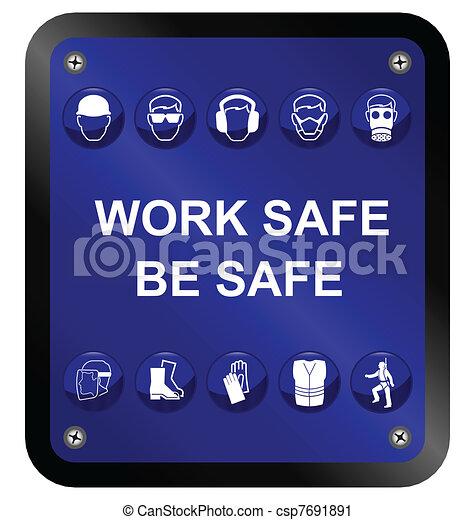 egészség, biztonság, aláír - csp7691891