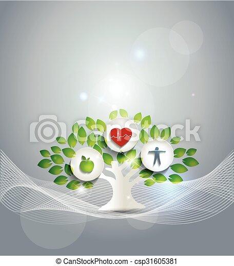 egészséges élénk, jelkép - csp31605381