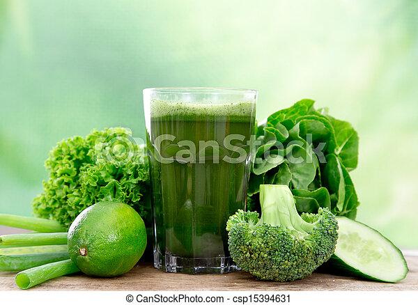 egészséges, lé, zöld - csp15394631