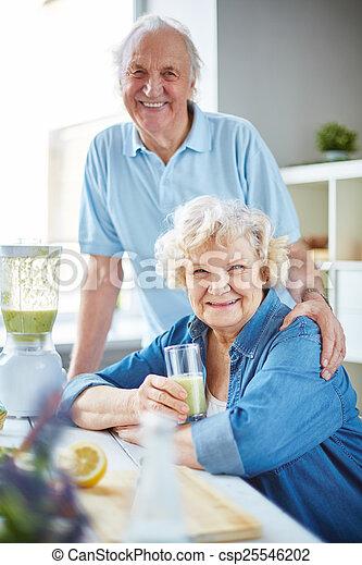 egészséges, párosít, öregedő - csp25546202