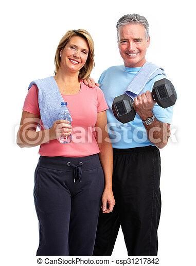 egészséges, párosít., öregedő, állóképesség - csp31217842