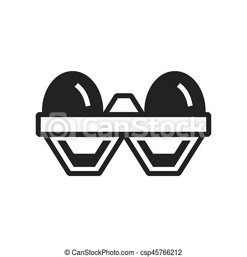 egg Farm icon black color - csp45766212