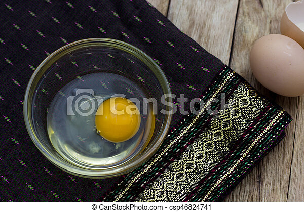 Egg in a cup - csp46824741