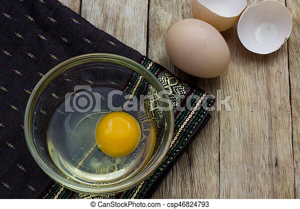 Egg in a cup - csp46824793