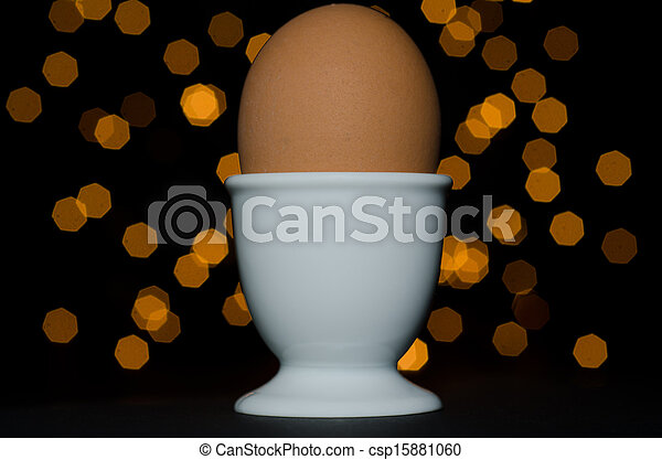 Egg in a egg cup - csp15881060