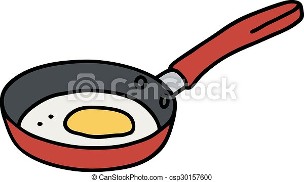 Egg in pan - csp30157600