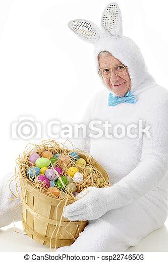 Egg loving senior bunny a senior adult man in an easter stock egg loving senior bunny stock photo negle Gallery
