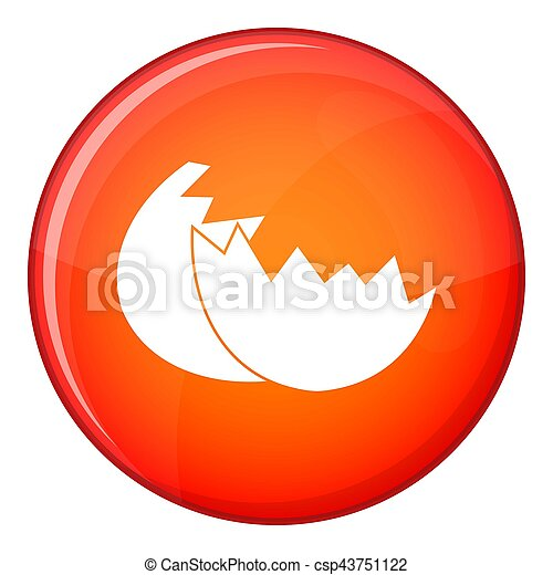 Egg shell icon, flat style - csp43751122