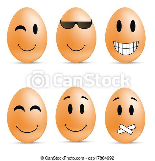 Egg smileys - csp17864992