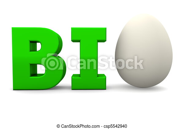 Egg Word BIO Glossy Green-Eggshell White - csp5542940