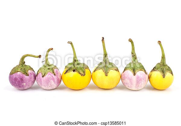 eggplant on white background - csp13585011