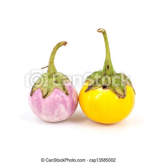 eggplant on white background - csp13585002
