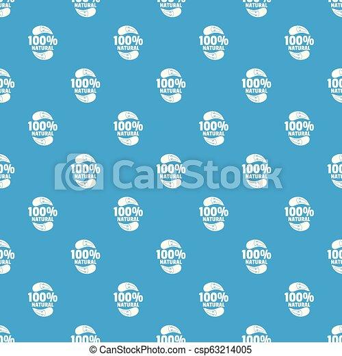 Eggplant pattern vector seamless blue - csp63214005