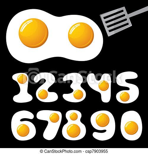 eggs alphabet - csp7903955