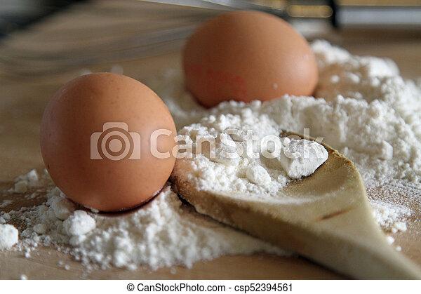 Eggs and flour - csp52394561