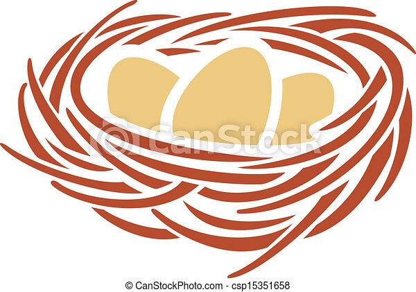 eggs and nest - csp15351658
