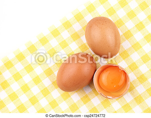 eggs isolated on white background - csp24724772