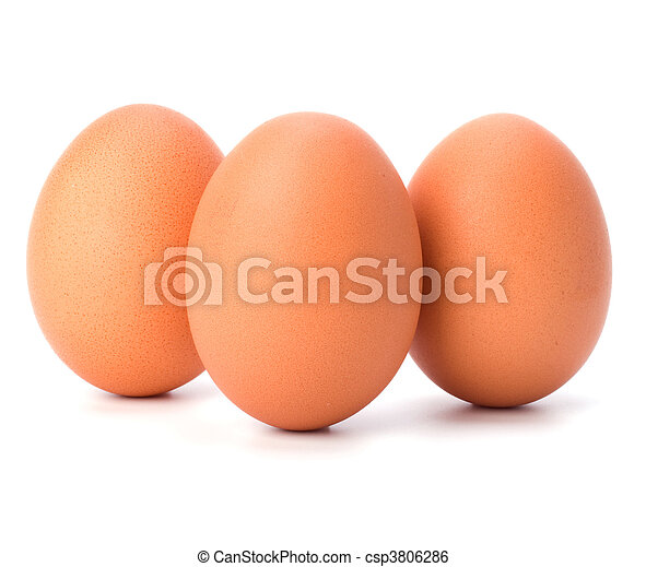 eggs isolated on white background - csp3806286