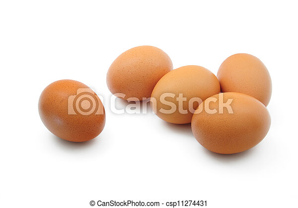 Eggs on white background - csp11274431