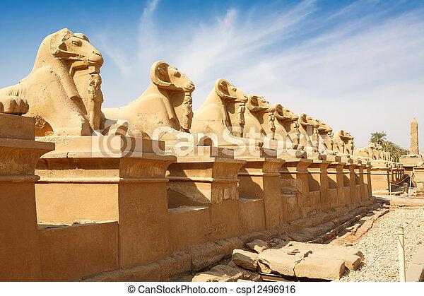 Avenida Esfinge. Luxor, Egipto - csp12496916