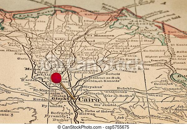 El Cairo Y Egipto En El Mapa Antiguo El Cairo Egipto Y Delta Del
