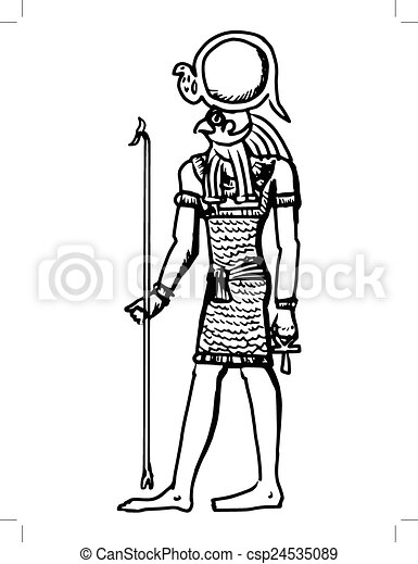 egito deus horus antiga antiga esboço egito deus ilustração