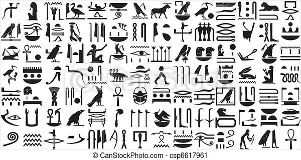 egiziano, geroglifici, 1, antico, set - csp6617961