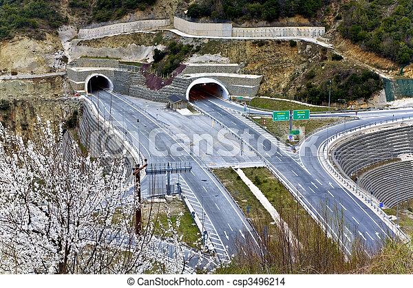 Egnatia international highway at Greece - csp3496214