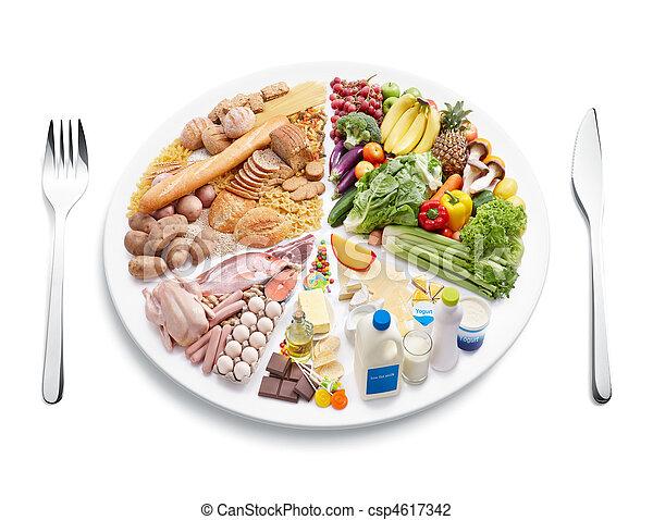egyensúly, diéta - csp4617342