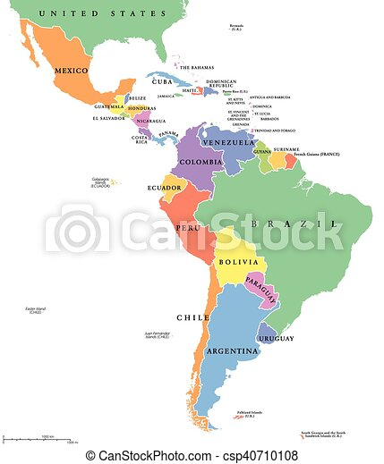 Egyesult Allamok Terkep Egyedulallo Latin Amerika Amerika