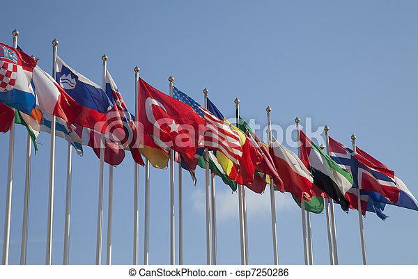 egyesült, zászlók - csp7250286