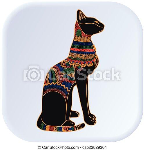 Egypt Cat Color Vector Graphic Illustration Design Art