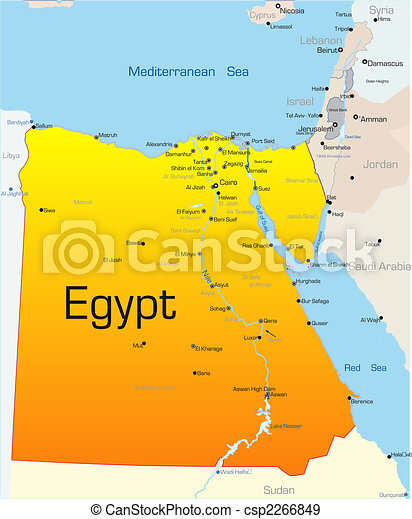 Abstract Vector Color Map Of Egypt Country Eps Vectors Search - What country is egypt in