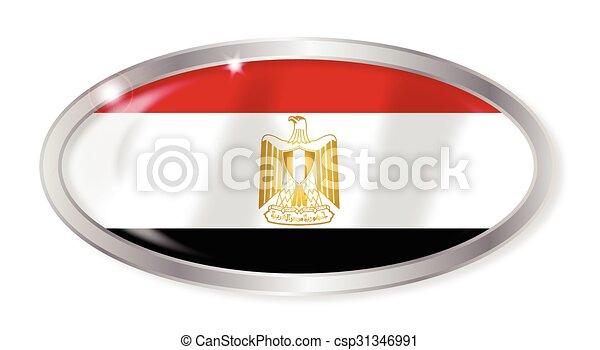 Egypt Flag Oval Button - csp31346991