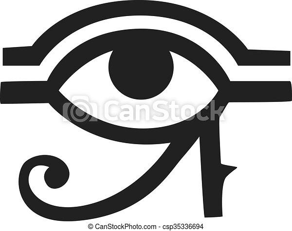 Egypt God Ra Vector Symbol Hand Drawn Set Egypt God Ra Vector