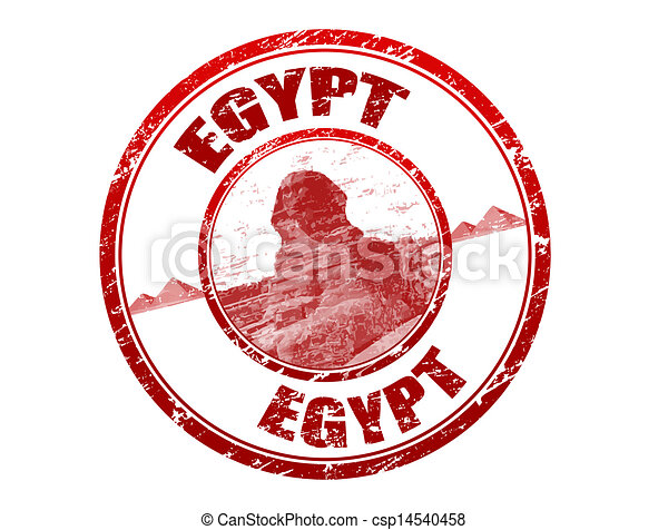 Egypt grunge rubber stamp - csp14540458
