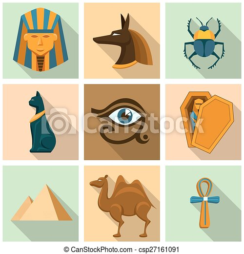 Egypt icon set - csp27161091