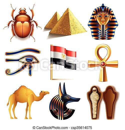 Egypt icons vector set - csp35614075