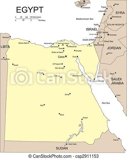Vectors Of Egypt Major Cities And Capital Egypt Editable - Map of egypt's major cities