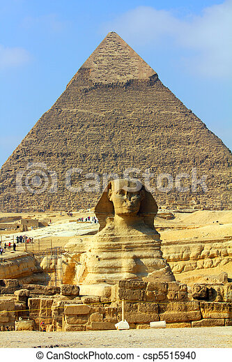 egypt pyramid and sphinx - csp5515940