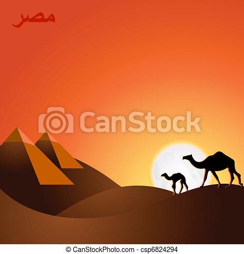 Egypt sunset - csp6824294