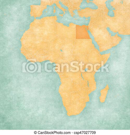 Carte Afrique Egypte.Egypte Carte Afrique