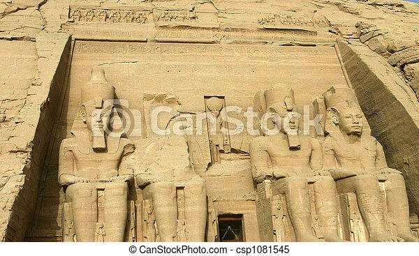 egypte, simbel, abu - csp1081545