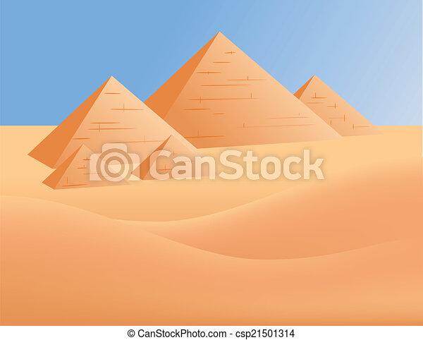 egypten, pyramider - csp21501314