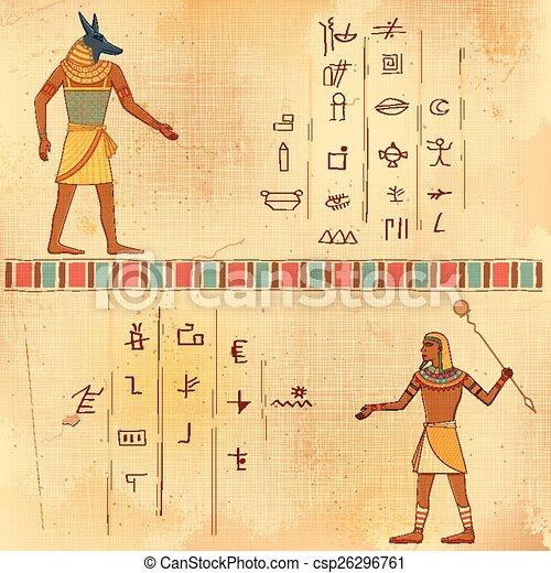 Egyptian art of human - csp26296761